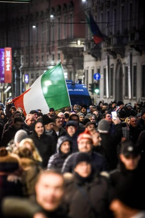 La protesta dei tassisti a Milano  8