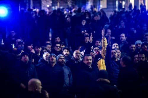 La protesta dei tassisti a Milano  7