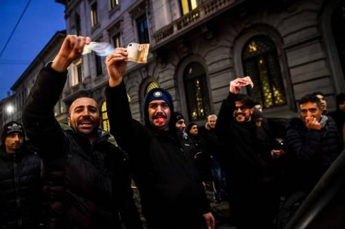 La protesta dei tassisti a Milano  9