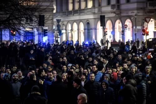 La protesta dei tassisti a Milano  14
