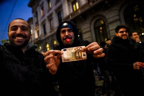 La protesta dei tassisti a Milano  17