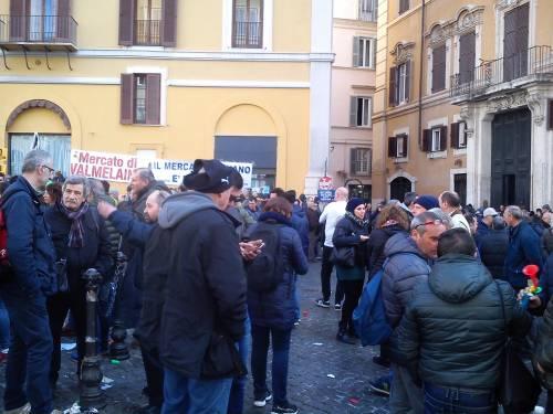 La manifestazione dei tassisti a Montecitorio 3