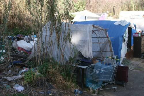 Le sponde del Tevere ospitano le baracche dei rom 13
