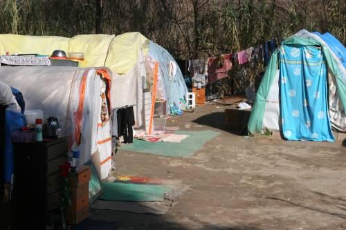 Le sponde del Tevere ospitano le baracche dei rom 14
