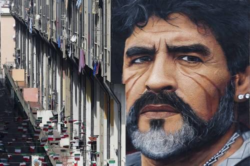 Risultati immagini per murale di maradona san giovanni