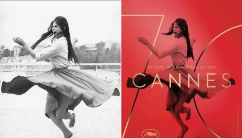"""Cardinale """"ritoccata"""". È polemica sulla locandina di Cannes"""