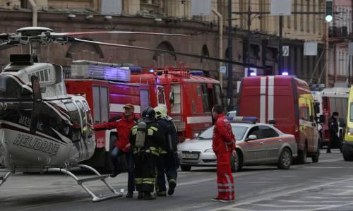 L'elicottero di Putin a San Pietroburgo