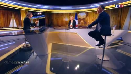"""Marine Le Pen a TF1: """"Via la bandiera dell'Ue dallo studio"""" 2"""