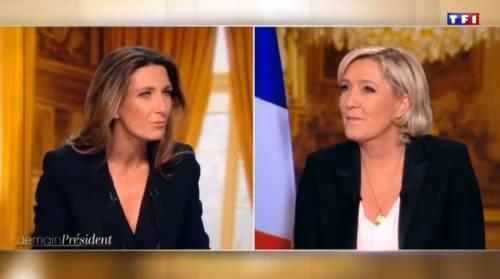 """Marine Le Pen a TF1: """"Via la bandiera dell'Ue dallo studio"""" 3"""