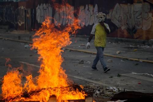 Duri scontri in Venezuela 5