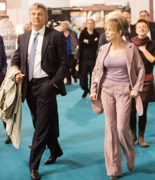 Marina Berlusconi, presidente Mondadori, e Enrico Selva Coddè, ad area trade Mondadori Libri, a Tempo di Libri