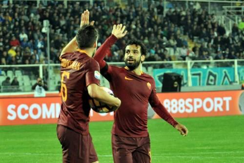 La Roma manda il Pescara in Serie B: i giallorossi allungano sul Napoli