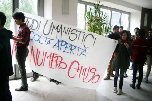 Il presidio di protesta degli studenti 5