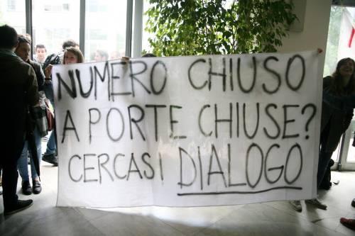 Il presidio di protesta degli studenti 3