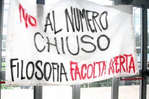 Il presidio di protesta degli studenti 4