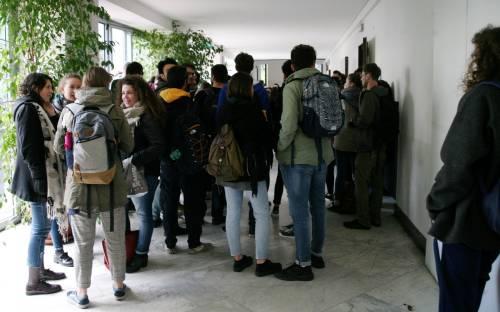 Il presidio di protesta degli studenti 7