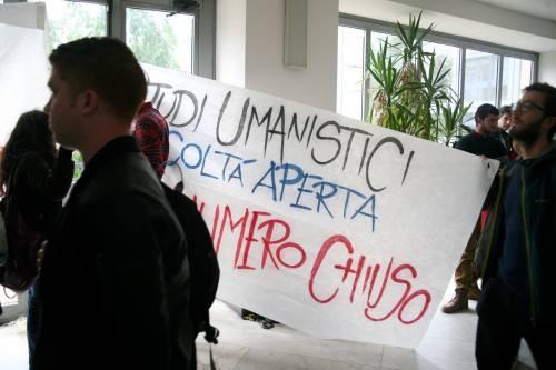Il presidio di protesta degli studenti 6