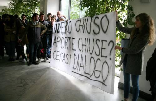 Il presidio di protesta degli studenti 2
