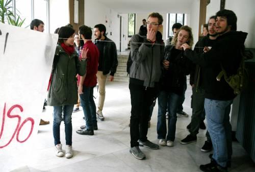 Il presidio di protesta degli studenti 8