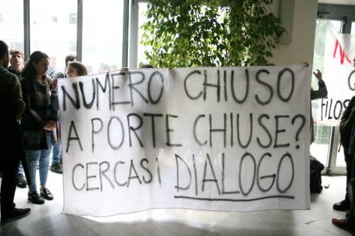 Il presidio di protesta degli studenti 9