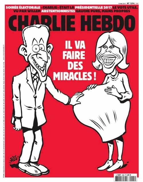 Charlie Hebdo fa indignare ancora: nel mirino c'è Brigitte Macron