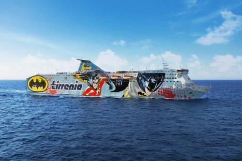 Sharden, con Tirrenia da Genova a Porto Torres si naviga con i Supereroi