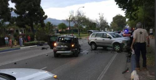 I momenti dopo l'incidente a Marbella (foto @emergenza24)