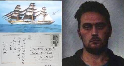 """La cartolina di """"Igor"""" ai carabinieri: """"Addio Italia: soldati fate schifo"""""""