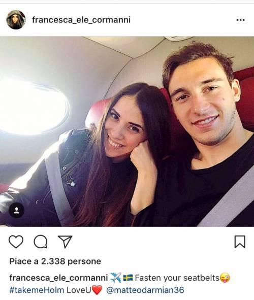 Il calciatore Matteo Darmian oggi sposa Francesca Cormanni