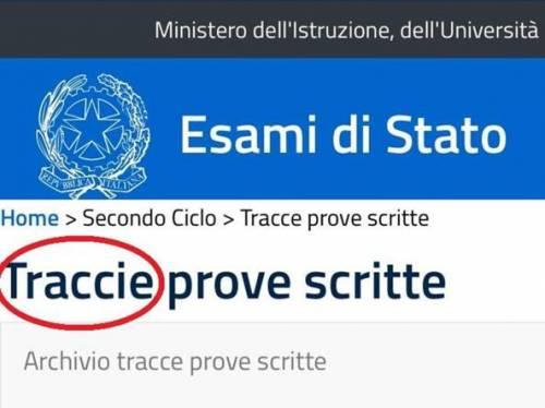 L 39 errore di ortografia sul sito della maturit traccie for Commissario esterno esami di stato rinuncia