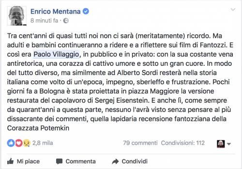 Paolo Villaggio, il messaggio dei vip 4