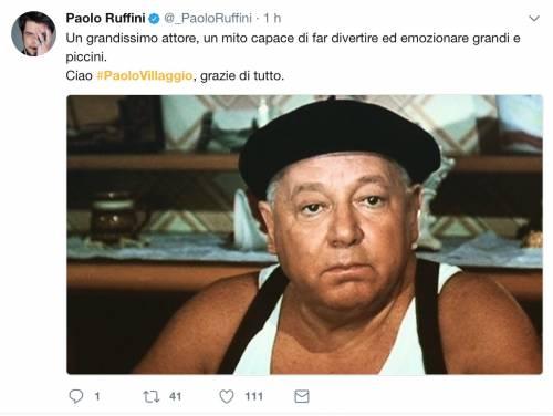 Paolo Villaggio, il messaggio dei vip 16