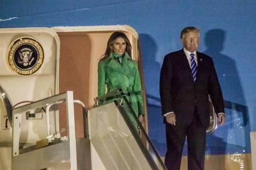 L'arrivo di Trump e Melania in Polonia 5