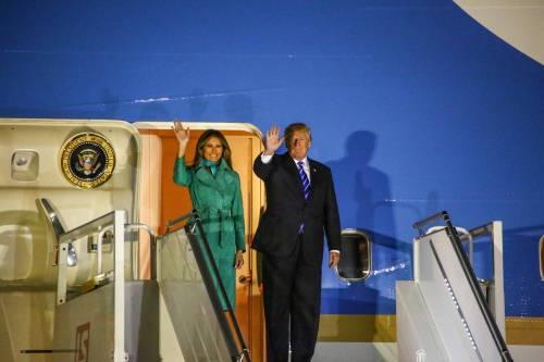L'arrivo di Trump e Melania in Polonia 8