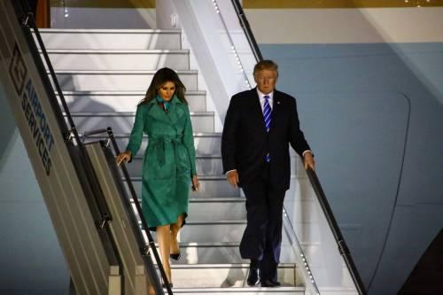 L'arrivo di Trump e Melania in Polonia 10