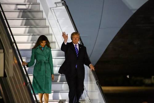L'arrivo di Trump e Melania in Polonia 14