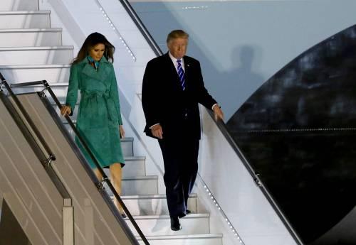 L'arrivo di Trump e Melania in Polonia 2