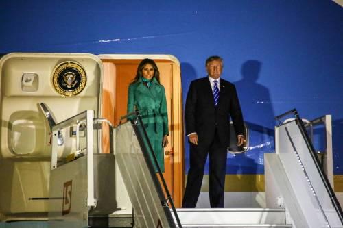 L'arrivo di Trump e Melania in Polonia 15
