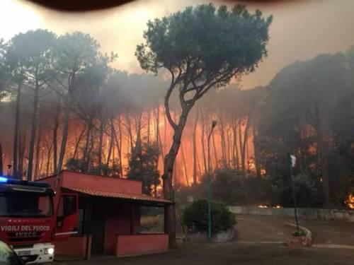 Gli incendi divampano sul Vesuvio 7