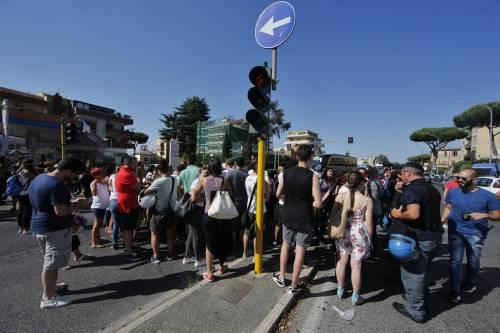 Protesta dei candidati a Roma 1