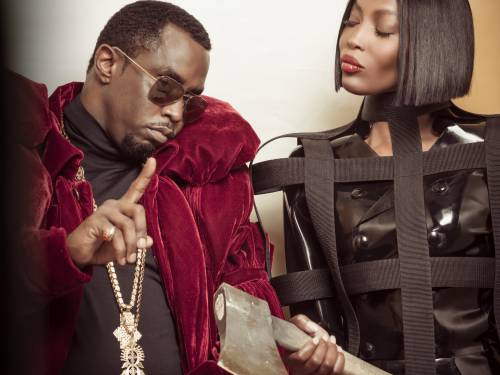 "Sean ""Diddy"" Combs con Naomi Campbell"