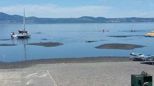 Il lago di Bracciano senza acqua 4