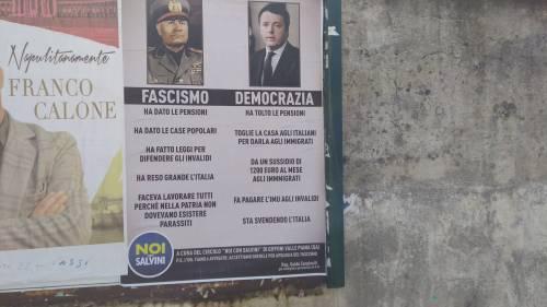 """Manifesto anti-Pd: """"Il Duce? Meglio di Renzi. Fiano ci quereli"""""""