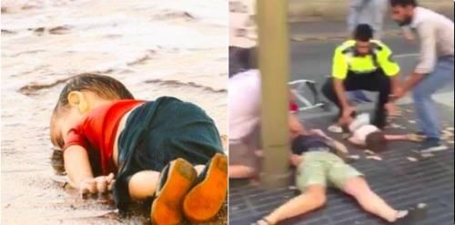 Immigrati islamici e terrorismo. Questa foto smaschera l'ipocrisia dei media