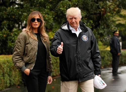 Melania e Donald Trump verso Houston 3