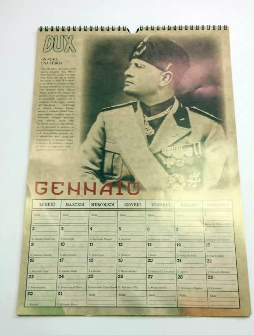Il calendario di Mussolini esposto in un supermarket dell'imperiese 4