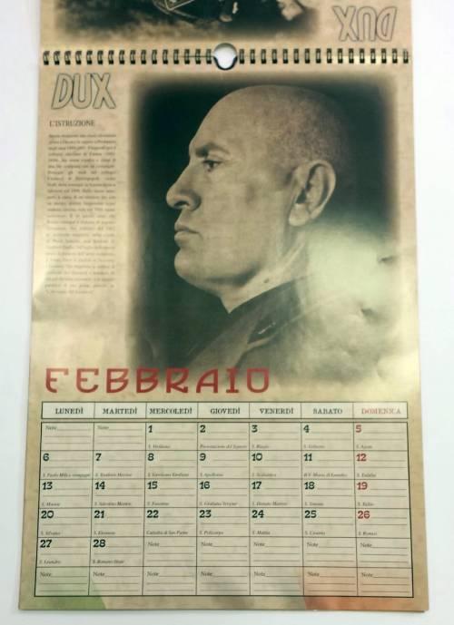 Il calendario di Mussolini esposto in un supermarket dell'imperiese 5
