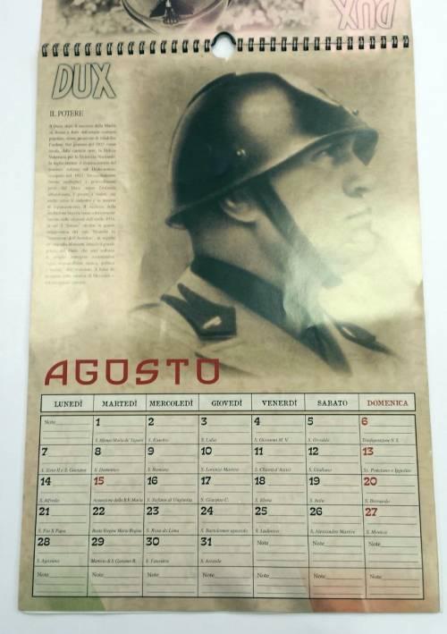 Il calendario di Mussolini esposto in un supermarket dell'imperiese 6