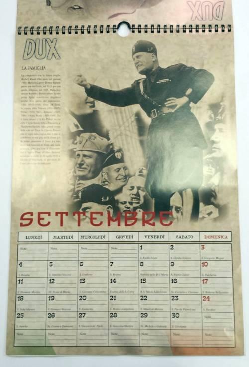 Il calendario di Mussolini esposto in un supermarket dell'imperiese 2