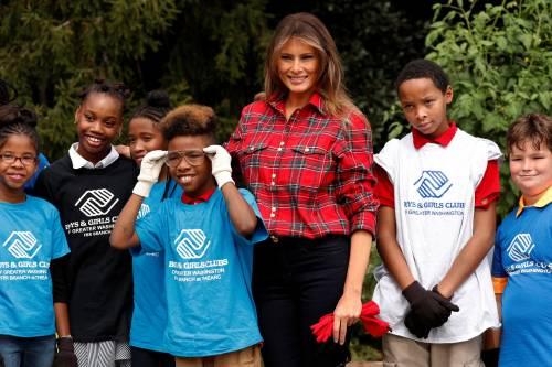 Melania Trump come Michelle: fa l'orto alla Casa Bianca 5